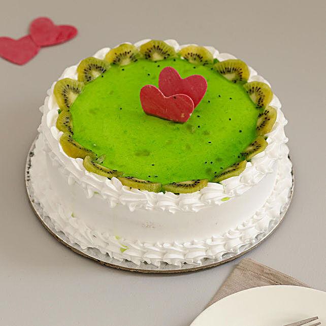 Online Kiwi Fruit Cake:Send Fresh Fruit Cakes