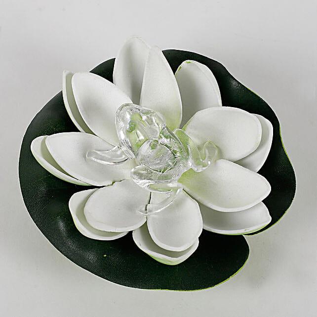 Frog On A Lotus Led Light Gift Led Lotus Light For Diwali Ferns N