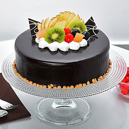 Fruit Chocolate Cakes Half kg Eggless:Cake Delivery in Pune
