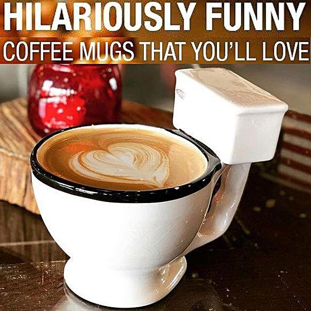 Funky Toilet-Shaped Mug Online:Unusual Mugs