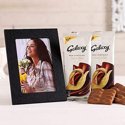 Chocolate and Photo Frame Combo