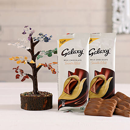 Galaxy Choco Bar & Gem Stone Tree Combo