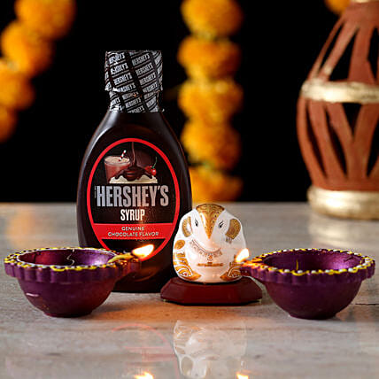 Hershey's chocolate syrup with Diwali Diya online