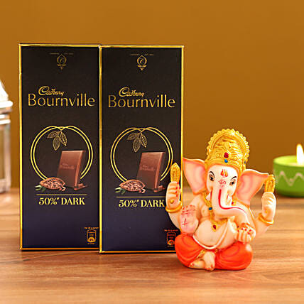 Order Ganesha Idol and  Dark Chocolate
