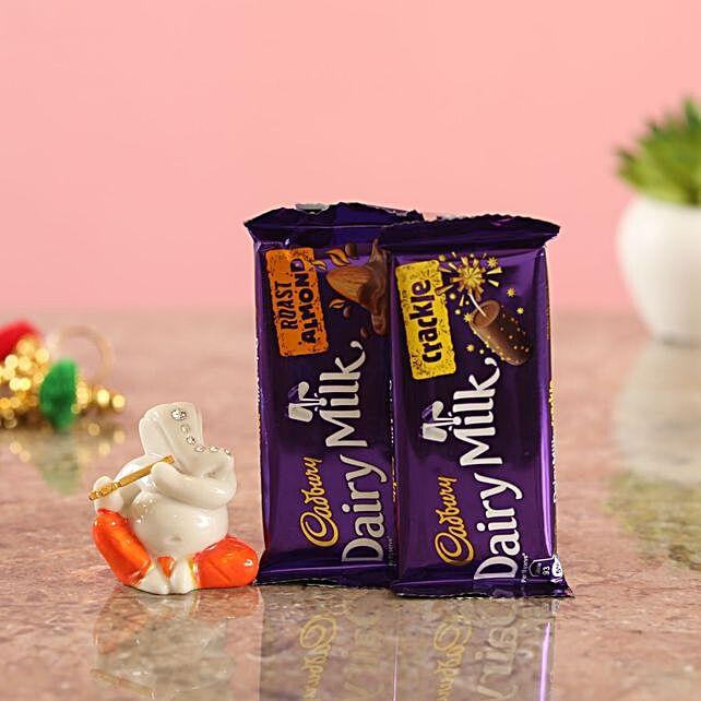 Ganesha Idol Cadbury Delights Combo