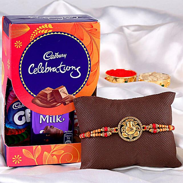 ganesha rakhi with chocolates