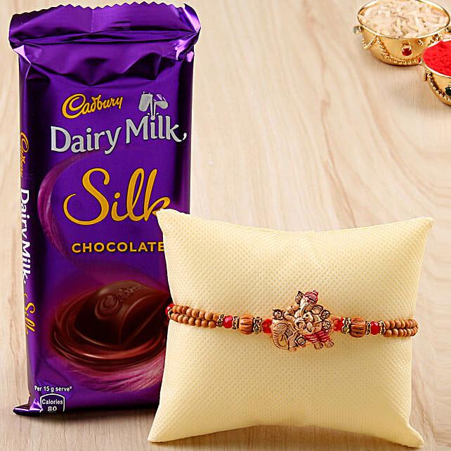 rakhi with cadbury silk online
