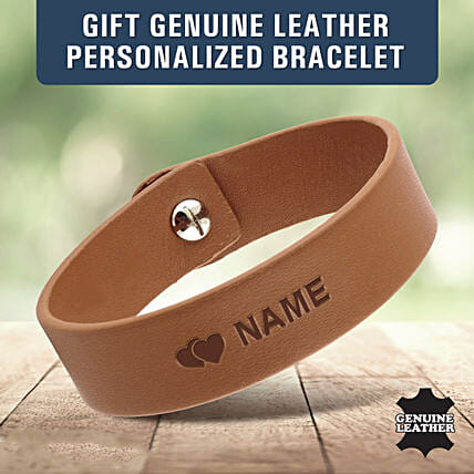 genuine leather bracelet for him:Personalised Accessories