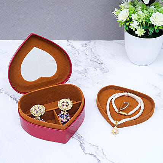 Heart Shaped Jewellery Organiser Box