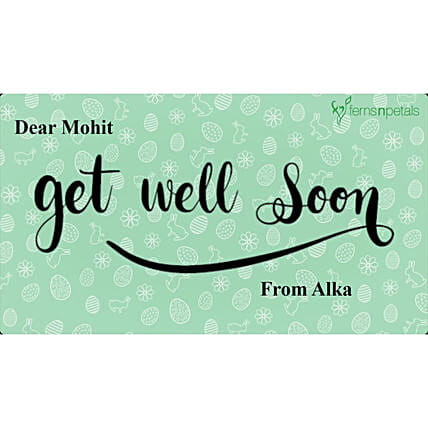 Get Well Soon Personalised Video- For Him:Personalised Video Messages