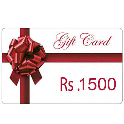 Gift Card-Rs.1500:Send Wedding Gifts to Tirupur