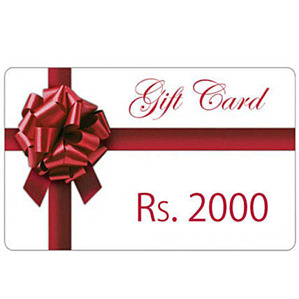 Gift Card Rs.2000:Send FNP Gift Cards