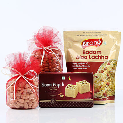 mixture and dry fruits:Family Gift Hampers