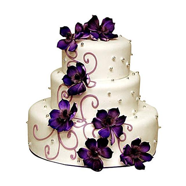 Glamorous Wedding Cake 5kg:2 Tier Cake