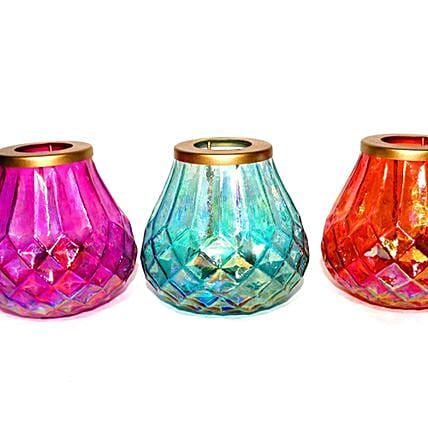 Glass Tealight Holder with candle stand