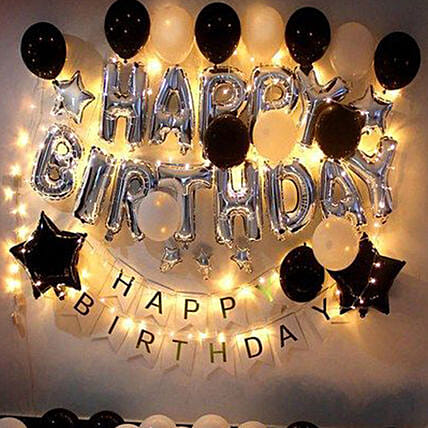 Glittery Birthday Surprise:Balloon Decoration Ideas