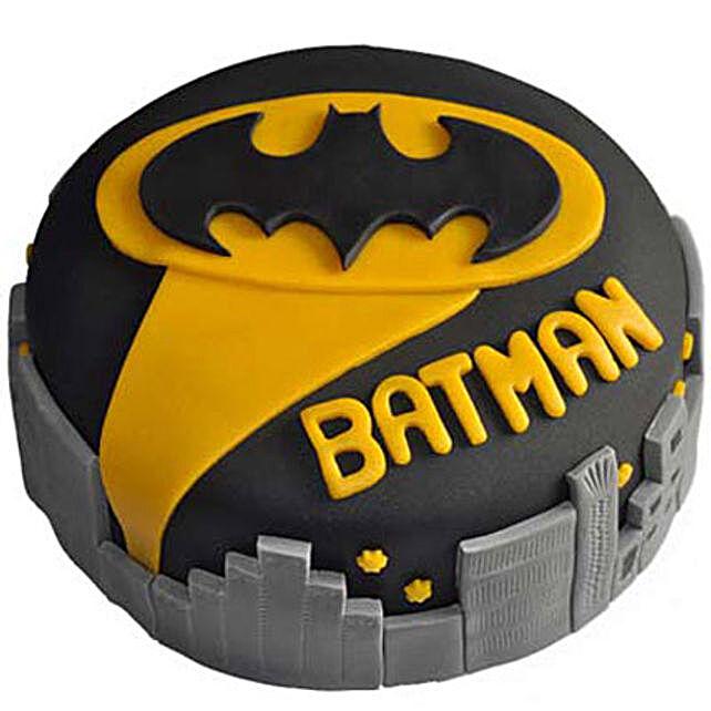 Glitzyy Batman City Cake 2kg:Batman Cakes