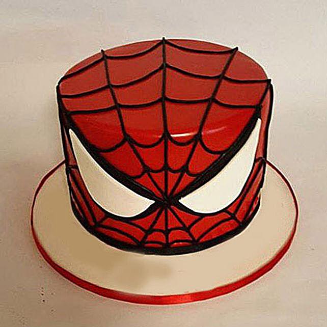 spiderman face mask design cake 1kg