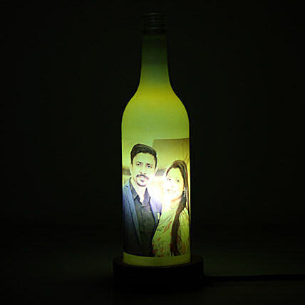 Glow Your Memory Personalized Lamp-1 yellow coloured:Gifts to Jorhat