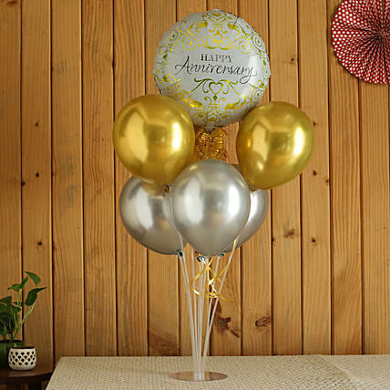 Gold And Silver Congratulations Balloon Bouquets