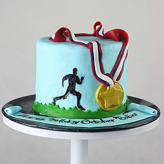 OnlineGold Medalist Chocolate Fondant Cake