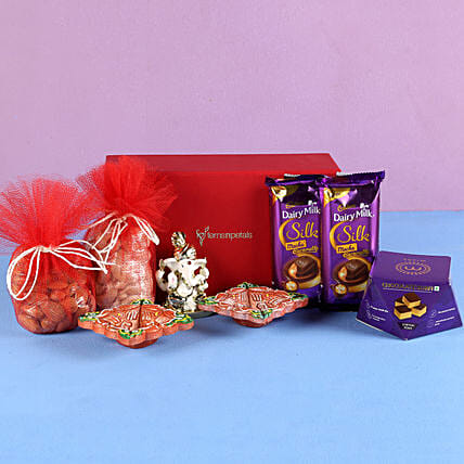 dry fruit with chocolates surprise for diwali