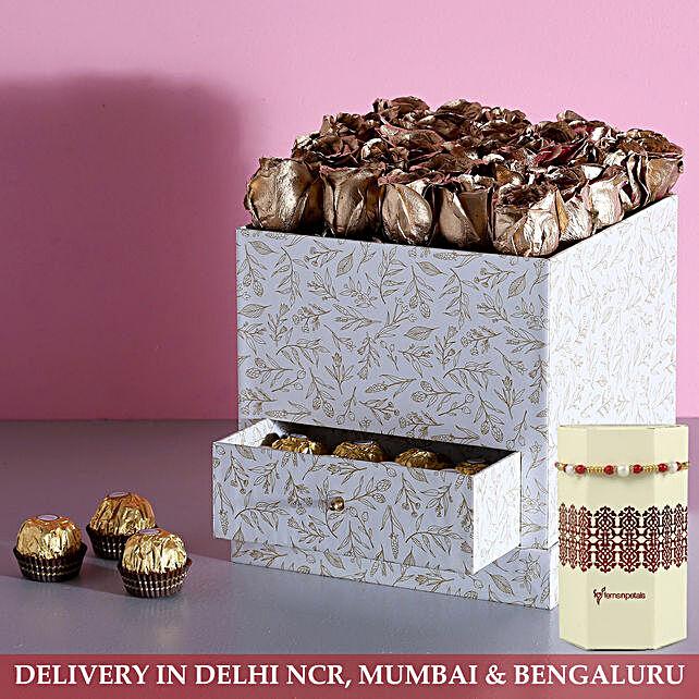 Online Rose Chocolate With Rakhi