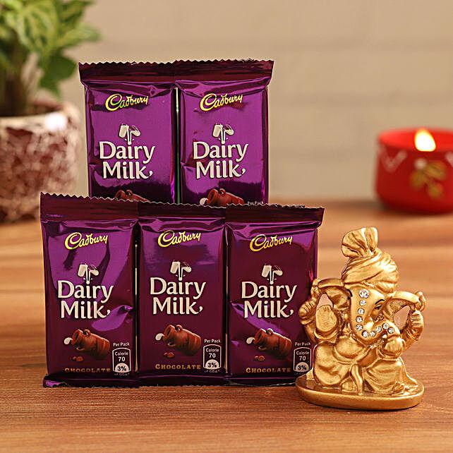 Order  Ganesha Idol and Dairy Milk:Send Cadbury Chocolates