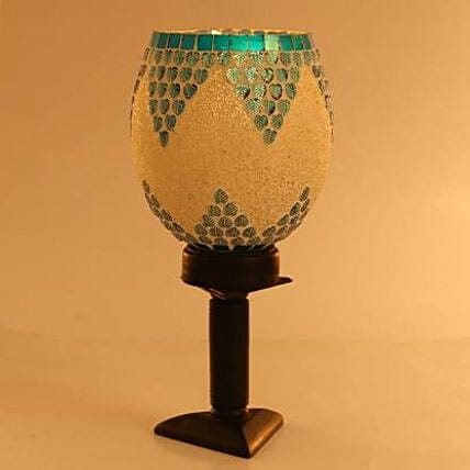 Decorative Glass Table Lamp:Send Gifts for Dhanteras