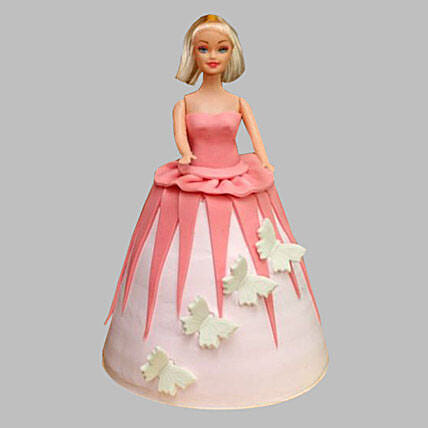 Cute Barbie Doll cake 2kg