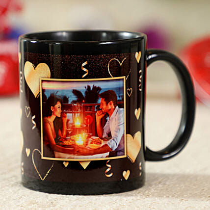 Gorgeous Black Personalised Mug:Coffee Mugs