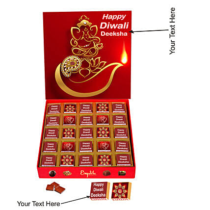 Order Diwali Personalised Chocolate gift:Personalised Chocolates