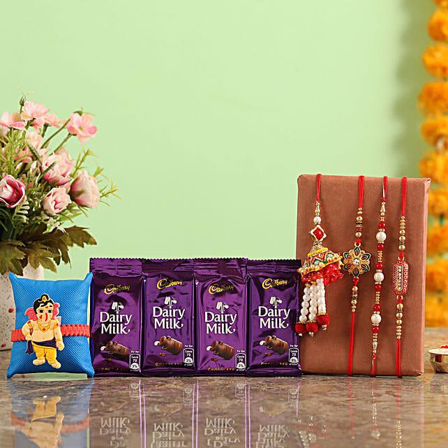 Online Rakhi Set And Chocolates