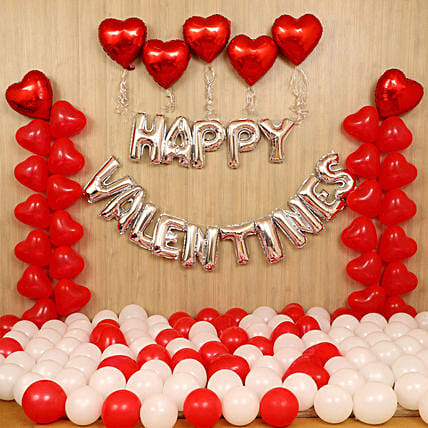 Grand V Day Celebration Balloon Decor:Valentine's Day Room Decor