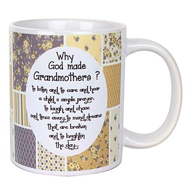 Grandmothers Printed Mug-Printed Mug with message,Why God Made Grandmothers:60th Birthday Gifts