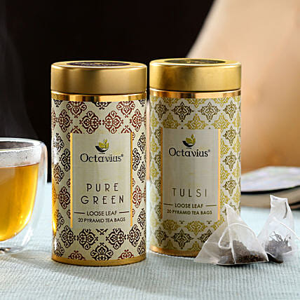 Green Tea and Tulsi Tee Combo Online