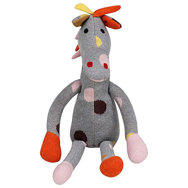 Online Grey Giraffe Soft Toy:Soft toys to Kolkata