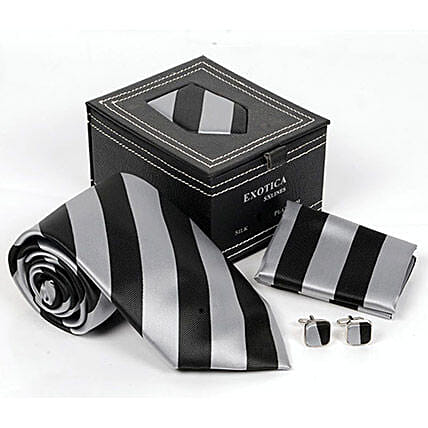 Silk Tie & Cuffllinks set