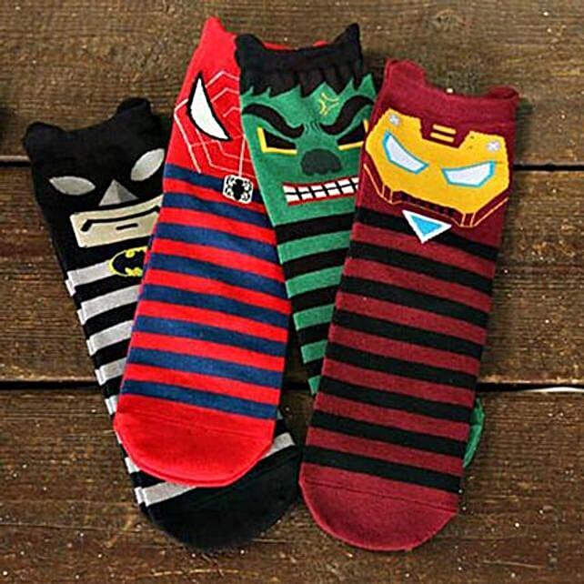 superheroes 5 pairs of socks