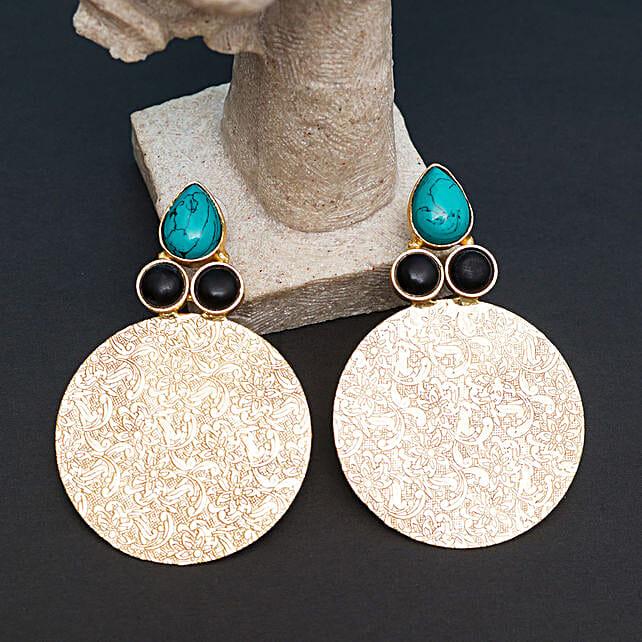 GT N Black Contemporary Earrings