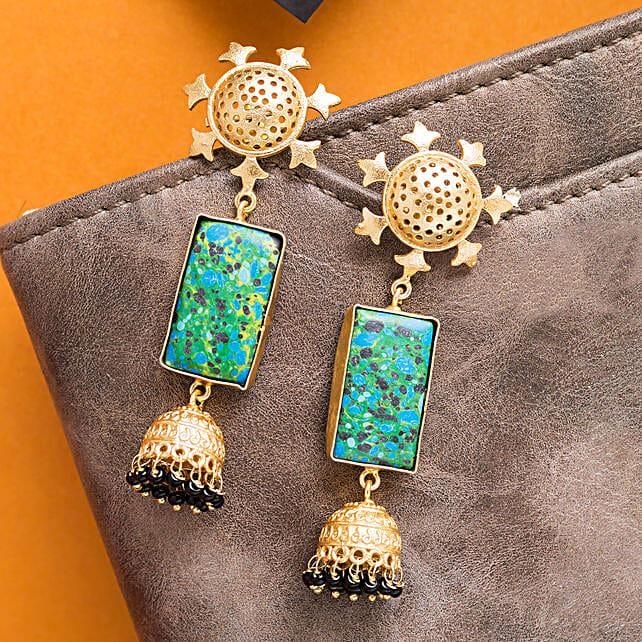 GT N Blue Contemporary Earrings 2