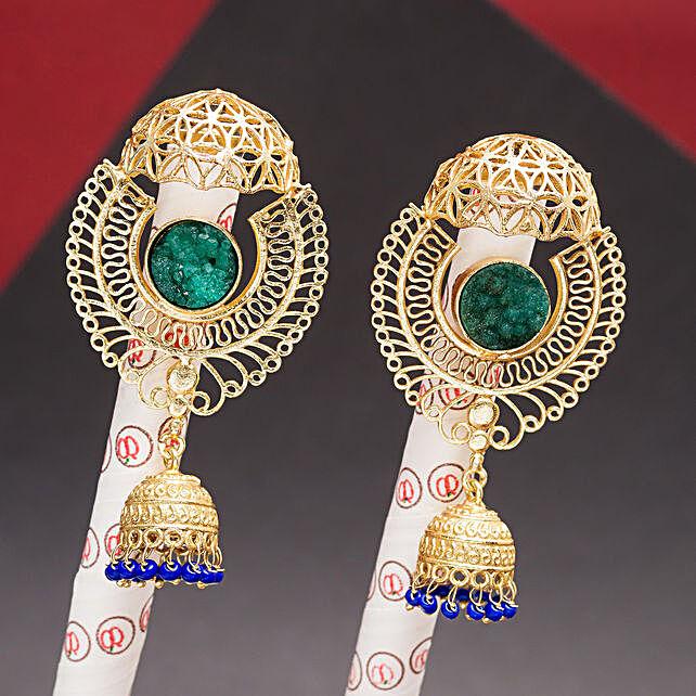 GT N Black Oval Earrings