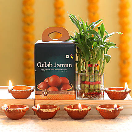 plant n sweet combo for diwali