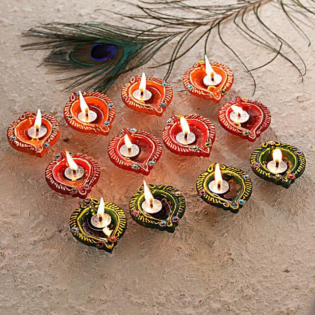 Simple Set of Diwali Diyas