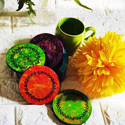 Hand painted Tea Coasters