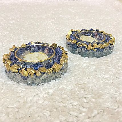 Handcrafted Geode Diyas:Diwali Unique Gifts