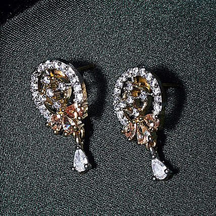 American Diamond Oval Earrings Online