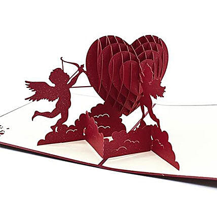 3D Pop Up Cupid Greeting Card