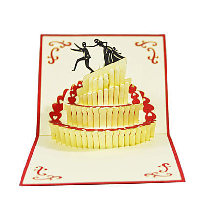 Online Handmade Wedding Cake 3D Greeting Card