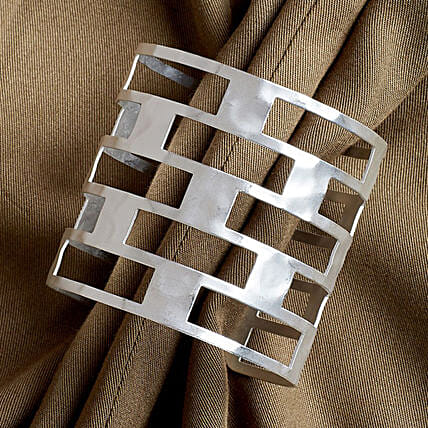 Silver Wirst Cuff Bracelet for Women:Jewellery Gifts